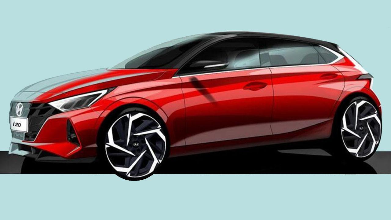 Hyundai hé lộ hình ảnh phác thảo của i20 thế hệ mới 2020