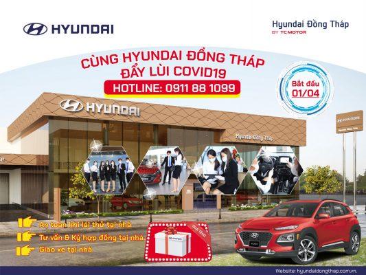 Hyundai Đồng Tháp chung tay đẩy lùi dịch bệnh covid 19